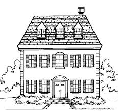 Coloring Page Of A House Vast Haunted House Printable Coloring Pages