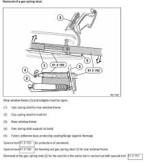 bmw e61 tailgate wiring diagram bmw wiring diagrams touring liftgate shocks