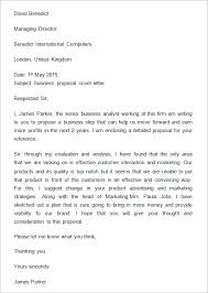 proposal letter example sample business proposal cover letter business pinterest