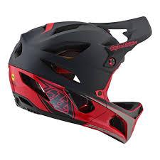 Troy Lee Designs Mountain Bike Helmet Stage Helmet W Mips Race Black Red
