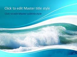 wave powerpoint templates free sea waves ppt template