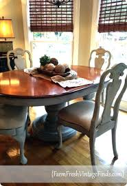 dining table painted chalk paint round pedestal legs