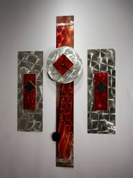 metal wall art sculpture pendulum clock modern abstract decor linda kovacs k95