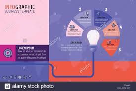 Modern Charts And Graphs Modern Color Vector Illustration Idea Light Bulb