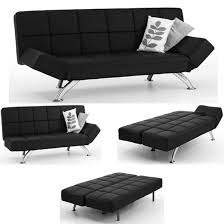 Small Picture Venice Black Faux Leather Sofa Beds 4896 Furniture in
