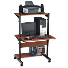 slim computer desk extraordinary computer desk with wheels cool furniture ideas with tall computer desk