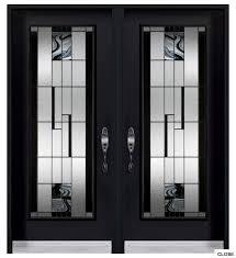 Wonderful Glass Door Texture Brilliant Exterior Double Doors Black With Simple Ideas
