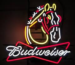 Budweiser Clydesdale Horse Beer Bar Neon Light Sign Pub Club