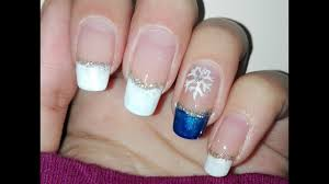 DIY Easy Winter Nail Art Tutorial: French Manicure: No Tools ...