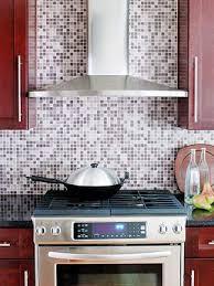 mosaic tiles purple glass tile backsplash