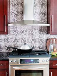 mosaic tiles purple glass tile backsplash