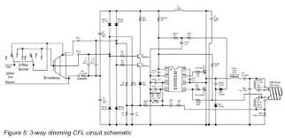 cfl ballast circuit diagram cfl image wiring diagram how compact fluorescent lamps work and how to dim them powerguru on cfl ballast circuit diagram