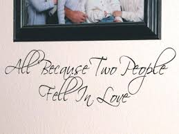 wall decals letters all because two people fell in love wall letters wall vinyl letters custom
