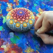 how to paint mandala stones