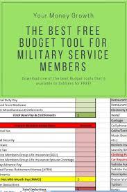001 Military Budgeting Worksheet Budget Best Excel
