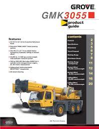 Grove Gmk 6200 Load Chart 60 Ton Grove Gmk3055 By Imperial Crane Issuu