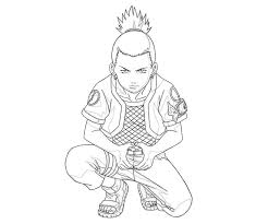 Small Picture Shikamaru Was Thinking Naruto Coloring Pages Pinterest