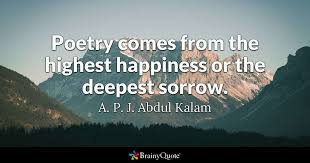A P J Abdul Kalam Poetry Comes From The Highest