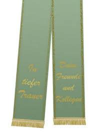 Trauerband Bedruckt 125mm X 75cm Olive Preiswert Online Kaufen