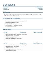 Pages Resume Templates Free Inspiration One Page Cv On Free Resume Templates For Word Resume Templates Pages