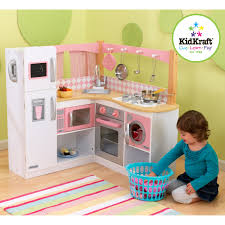 Kid Craft Retro Kitchen Kidkraft Grand Gourmet Corner Wooden Play Kitchen With 4pc