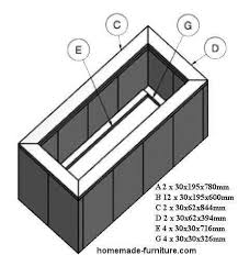 home made wooden planter construction drawings and woodworking plan