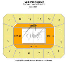 Seating Chart Of Cameron Indoor Stadium Cameron Indoor Stadium Tickets Cameron Indoor Stadium