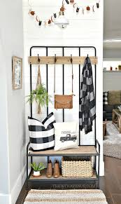 farmhouse entryway decor ideas that are affordable and easy to put together
