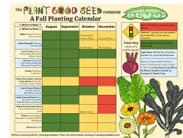 Green Bean Growth Chart Seasonal Crop Planting Calendars The Plant Good Seed Company