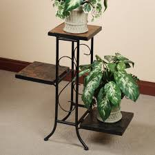 Decorations:Outdoor Flower Pot Shelf Stand Idea Classic Plant Stand With  Zig Zag Level Idea