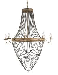 currey co lucien chandelier material wrought iron