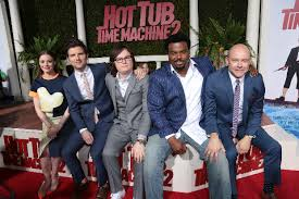 Gillian Jacobs Adam Scott Clark Duke Craig Robinson and Rob Corddry at  the