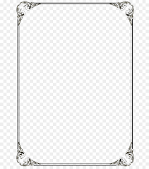 microsoft word template clip art black border frame png file png 736 1016 free transpa borders and frames png
