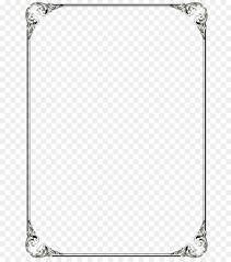 microsoft word template clip art black border frame png file