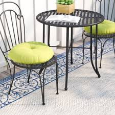 sarver bistro indoor outdoor dining chair cushion set of 2