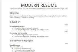 google resume samples