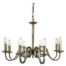 searchlight 1508 8ab richmond antique brass 8 light candle sconces chandelier 331882091397