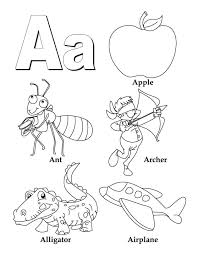 Beautiful The Letter A Coloring Pages 97 In Characters Coloring ...