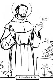 Saint Francis Of Assisi Catholic Coloring Page Coloring Home