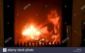 Feuer Im Herd Nahaufnahme Brennholz Brennen Detail