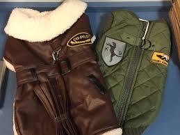 er dog apparel faux leather co pilot coat or air force er vest
