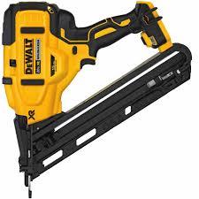 dewalt dcn650b 20v max xr 15 ga angled finish nailer tool only cordless nailers cordless tools power tools