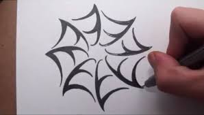 web drawing simple spider web drawing drawings nocturnal