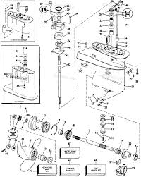 Evinrude outboard by year 1985 oem parts diagram for gearcase