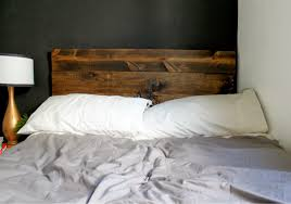 rustic wood headboard design