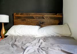 rustic wood headboard design