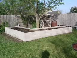raised garden cinder block garden bed
