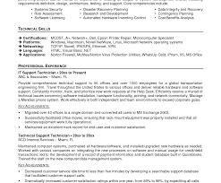 Resume Format For Desktop Support Engineer Desktop Engineer Resumes Support Resume Samples Sample Application