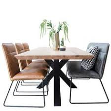 rocco industrial oak spider leg dining table and chairs reclaimed wood dining table industrial dining