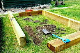 building a raised vegetable bed
